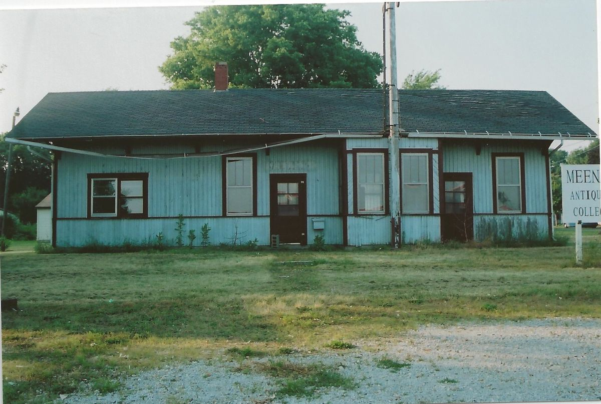 McLean Depot, 2002. The depot in place on Hwy 136. It was still being used as an antique store at this time. It was later purchased by the Village, who renovated it in 2010–11. It is now a hobby train shop and info center for Route 66 travelers.